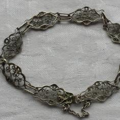 Bratara argint filigran Veche executata manual Finuta Eleganta de Efect Vintage