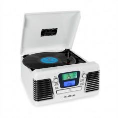 Ricatech RMC100 Music Center Plattenspieler Stereo weiß USB SD CD MP3 UKW