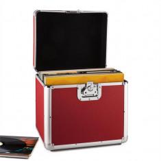 Timp Resident DJ placă de aluminiu capsulă valiză vinil LP dosarului 70 buc rosu