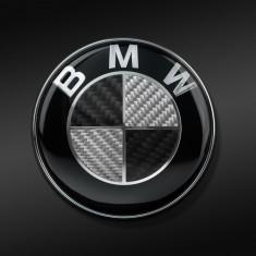 Emblema/Sigla Carbon 3D capota/portbagaj BMW Seria 1/3/5/6/7/X - 82/74mm - Ornament Auto