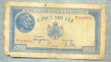 A1147 BANCNOTA-ROMANIA-5000 LEI- 2 MAI 1944-SERIA0189351-starea care se vede