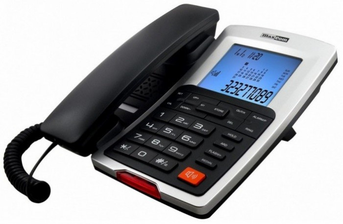 Telefon fix Maxcom KXT709 CLIP negru + argintiu foto mare