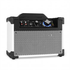 DJ-Tech Mini Cube difuzoare PA Bluetooth AUX USB albe - Stroboscop club