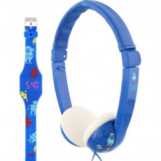 TNB Bundle kids headphones + led watch blue, Casti On Ear, Cu fir, Mufa 3, 5mm