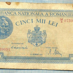 A1144 BANCNOTA-ROMANIA-5000 LEI-15DECEMVRIE1944-SERIA0739691-starea care se vede - Bancnota romaneasca