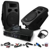 Set DJ PA Bass Blast Force Amplificator PA-Boxe 1000W