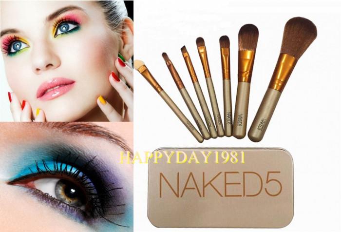 SET TRUSA  7 pensule  MACHIAJ  Make-up, NAKED 5 URBAN DECAY