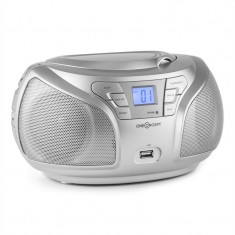 ONEconcept Groovie RD Boombox Bluetooth FM CD MP3 AUX auriu - Combina audio