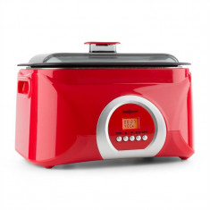 ONEconcept Sanssouci Sous-vide Garer aragaz lent 5l 300W roșu - Multicooker