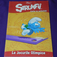Strumfii benzi desenate, activitati - LA JOCURILE OLIMPICE - Reviste benzi desenate