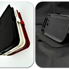 Husa FlipCover Stand Magnet UTOK 450Q Negru, Plastic, Cu clapeta