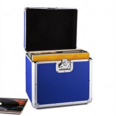 Timp Resident DJ placă de aluminiu capsulă valiză vinil LP dosarului 70 buc albastru