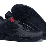 Air Jordan Retro 4 Low Black Gray - Adidasi barbati Nike, Marime: 40, 44, 45, Culoare: Din imagine