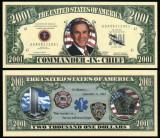 !!! SUA = FANTASY NOTE  =  GEORGE  BUSH , COMANDANT  SEF  - 2001 - UNC