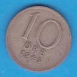 (2) MONEDA DIN ARGINT SUEDIA - 10 ORE 1945, LIT. G, Europa