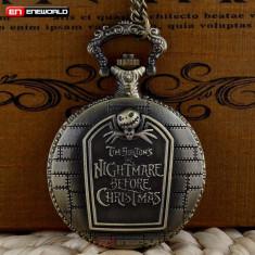 Ceas De Buzunar Retro - Halloween Nightmare Before Christmas - Ceas de buzunar vechi