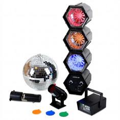 oneConcept Mega LED Party Set Discokugel Strobo Lichtorgel