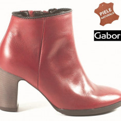 Botine dama piele naturala Gabor rosu (Marime: 38) - Ghete dama