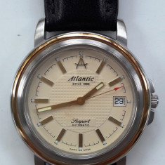 Ceas automatic Atlantic Seaport - Ceas barbatesc Atlantic, Elegant, Mecanic-Automatic, Inox, Piele, Analog