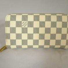 Portofel dama alb dublu LV Louis Vuitton+CADOU, Culoare: Din imagine, Cu fermoar