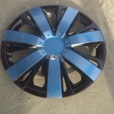 Capace roti 15 albastru cu negru model spitat, R 15