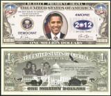 !!! SUA = FANTASY NOTE  =  REALEGEREA  LUI  OBAMA  - 2012 - UNC