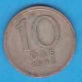 (3) MONEDA DIN ARGINT SUEDIA - 10 ORE 1943, Europa