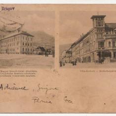 Cp clasica Brasov Academia comerciala maghiara - Vila Kertsch (Ed. Ciurcu) - Carte Postala Transilvania pana la 1904, Circulata, Printata