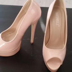 Pantofi eleganti nude - Pantof dama, Marime: 37