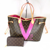 Set dama geanta si portofel LV Louis Vuitton Neverfull Editie limitata+CADOU