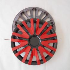 Capace roti 15 rosu cu negru model V, R 15