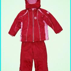 Combinezon salopeta / costum de iarna, impermeabil, TCM _ 18-24 luni | 86-92 cm, Marime: Alta, Culoare: Rosu, Fete