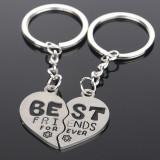 Breloc BFF Best Friends - In Forma De Inima Pentru Cuplu Sau Prieteni