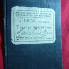 Carnet de Sanatate maghiar din per.ocupatiei Hortiste, Cluj, doctor din Apahida