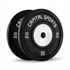 CAPITAL SPORTS Inval, discuri de competiție, aluminiu, pereche 2 X 10 KG - Benzi magnetice