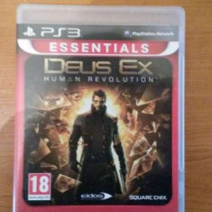 Vand Joc Deus Ex Human Revolution PS3, Actiune, 16+, Single player, Eidos