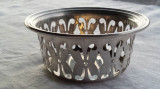 Bol argint 800 traforat vechi Masiv executat manual Splendid Stare IMPECABILA