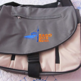 Geanta laptop ACCU-CHEK, Poliester, Gri