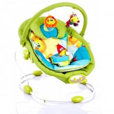 Baby Mix leagan muzical cu vibratii Grand Confort, 0-1 an, maxim 9 kg, verde - Balansoar interior
