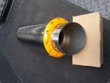 Toba sport inox rotunda cu guler galben, Universal