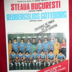 Program Meci Handbal Steaua Bucuresti -Redbergslids Gotteborg 1986