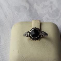 Inel argint cu Onix vechi Finut executat manual Vintage Splendid de Efect