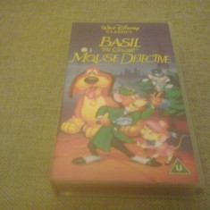 BASIL - The Great mouse detective - Walt Diseny Classics - VHS - Caseta video - Film animatie, Engleza