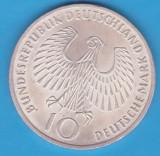 (2) MONEDA DIN ARGINT GERMANIA - 10 MARK 1972 - LIT. J - OLIMPIADA - KM# 135, Europa