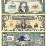 !!! SUA = FANTASY NOTES =  LOT ISTORIA SERVICIILOR POSTALE S.U.A. - 2002 - UNC