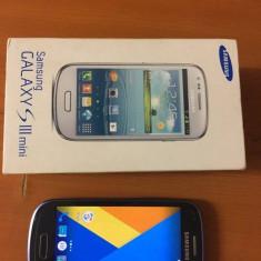 Samsung I8190 Galaxy S III mini, android actualizat (5.1.1) - Telefon mobil Samsung Galaxy S3 Mini, Negru, 8GB, Neblocat