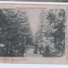 CP carte postala Maramarosbol-Polyana-gyertyanligeti furdoreszlet, 1910 - Carte Postala Maramures 1904-1918, Circulata, Fotografie