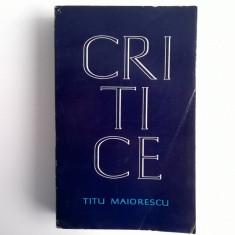 Titu Maiorescu – Critice - Eseu
