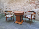 Masa si fotolii vechi Art Deco mobilier antic, masa