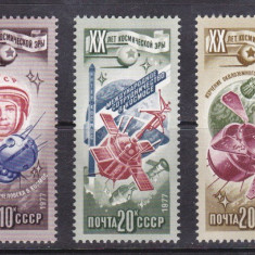 Rusia 1977, Serie Neuzata - Cosmos - Timbre straine, Stampilat